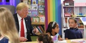 Trump in clasroom